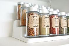 DIY Organizing Ideas for Kitchen - Dollar Store Spice Cupboard - Cheap and Easy Ways to Get Your Kitchen Organized - Dollar Tree Crafts, Space Saving Ideas - Pantry, Spice Rack, Drawers and Shelving - Home Decor Projects for Men and Women http://diyjoy.com/diy-organizing-ideas-kitchen