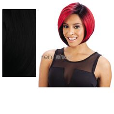 Equal (SNG) Invisible L Part Wig Black Jack - Color 1 - Synthetic (Curling Iron Safe) Invisible L-Part Wig - Closed Invisible Part
