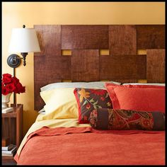 Woven Headboard From Plywood