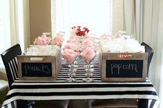 cotton candy in martini glasses. {carnival bridal shower}