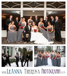 Indoor Wedding Pictures, Snow Wedding Pictures, Gray and Red Wedding, Clarks Landing, NJ Wedding, LeAnna Theresa Photography, http://www.leannatheresaphotography.com/giulia-dave-are-married-asbury-park-wedding-photographer/