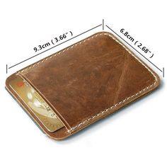 Vintage Genuine Leather Card Holder Wallet Purse For Men Women