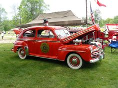 1940's Ford fire chief's car