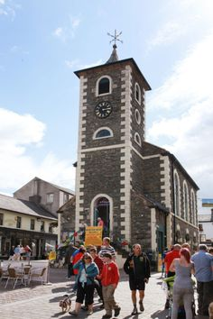 A tour of #Keswick and a look at the #Theatre by the #Lake's #costume department. Keswick #MarketSquare and Moot Hall.