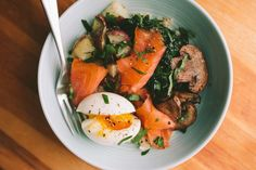 Smoked Salmon Breakfast Bowl with a 6-Minute Egg