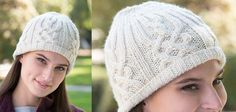 Lattice Look Knitted Beanie [FREE Knitting Pattern]