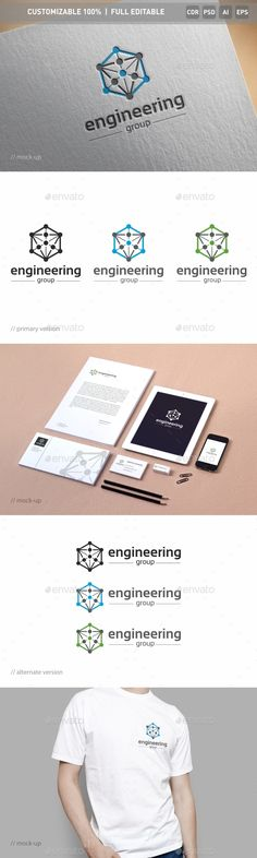 Engineering Logo Template PSD, Vector EPS, AI Illustrator, CorelDRAW CDR #logotype Download here: http://graphicriver.net/item/engineering-logo-template/16813078?ref=ksioks