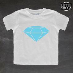 Diamond white shirt  toddler kids t-shirt by LittleSwagApparel