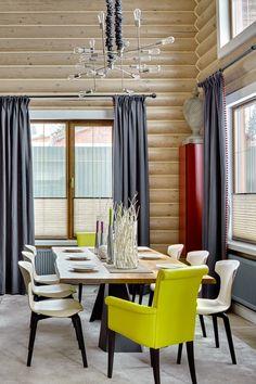 О том, как небанально декорировать деревянный дом | Свежие идеи дизайна интерьеров, декора, архитектуры на InMyRoom.ru