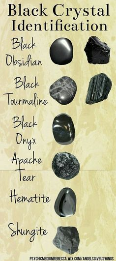 "sea-lestial-dream-witch: "" Identifying black crystals [x] imo hematite is a dark metallic grey shade, not black, but ¯\_(ツ)_/¯ """