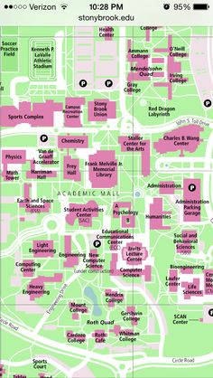 Campus Map - Stony Brook University Dragon Sports, Stony Brook University, Campus Map, Soccer Practice, Sports Complex, Best Places To Live, Long Island, College, York