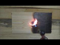 обжиг, браширование и пропитка маслом сосновой доски wood aging - YouTube
