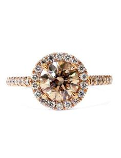 *This ring includes a 1.00 carat bronze diamond with a diamond halo (G-H, VS) set...