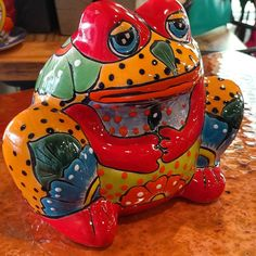 Talavera Frog Planters. Available at Barrio Antiguo 725 Yale st 77007 (713)880-2105