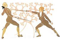 Julius Klinger's Fencing Woman. 1902. Kick ass.