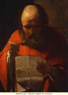 Georges de La Tour. St. Jerome Reading. Olga's Gallery.