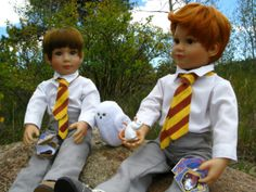 The shirt and tie patterns are free here:  hogwarts shirt and tie pattern