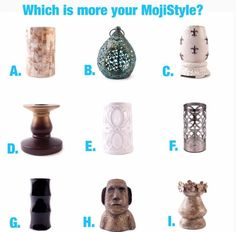We have many home decor pieces to fit your style! Take a peek!  www.buymojiproducts.com