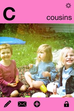 Create your own ABC flashcards with this app - imagine an ABC book starring your family!!
