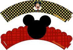 Casinha de Criança: Kit Festa Mickey Preto Vermelho e Amarelo Para Imprimir Grátis