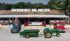 Robert Is Here Fruit Stand in Florida City, Florida. They have the best smoothies ever!!!