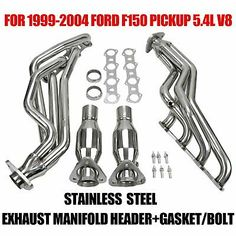 Sponsored Ebay Stainless Steel Header For 99 04 Ford F150 Lobo 5 4l V8 Pickup Exhaust Manifold In 2020 Ford F150 F150 Stainless Steel Bolts