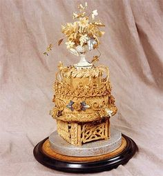 World's Oldest Wedding Cake.  Wouldn't want to eat this.  ;)