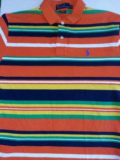 Tommy Hilfiger Polo Striped Shirt Red 100% Cotton Short Sleeve Mens Polo  Size XL | Mens xl