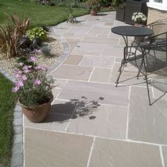 Pergola Patio Extension stone patio with fireplace.Enclosed Front Patio stone patio with fireplace. Garden Slabs, Patio Slabs, Garden Paving, Patio Stone, Stone Patios, Concrete Pavers, Flagstone, Pergola Patio, Backyard Landscaping