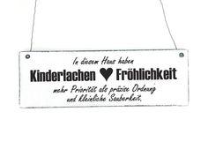 KINDERLACHEN & FRÖHLICHKEIT Türschild Shabby von DöRPKIND auf DaWanda.com