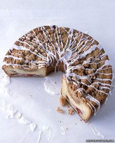 Cherry-Streusel Coffee Cake Recipe\n