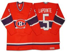 Guy Lapointe Jersey-Buy 100% official CCM Guy Lapointe Men s Authentic Red  Jersey Throwback NHL Montreal Canadiens  5 Free Shipping. 357f4393d