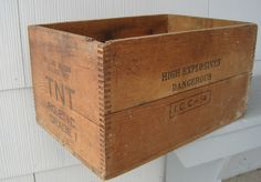 Vintage Wooden Explosives Crate