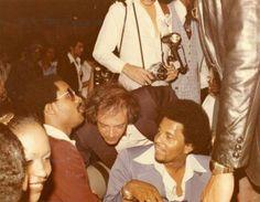 Stevie Wonder and Steve Rubell by Sal Oppedisanoat Studio 54, 1977