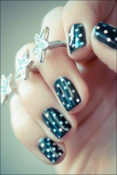 Glitter Hexagon Nailart