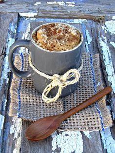 De aprendiz a chef: Bolo de canela e coco (na caneca)