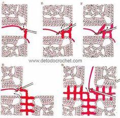 Cómo unir cuadros crochet con punto vareta
