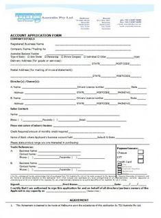Download Credit Application Form 23