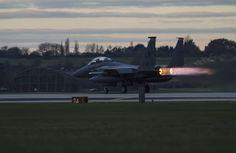 F15E Strike Eagle, early morning launch