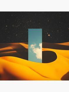 'Monolith II' Canvas Print by lacabezaenlasnubes _ Graphic Design Typography, Graphic Prints, Kraken, Neo Futurism, Surreal Artwork, Yellow Art, Inspirational Artwork, Retro Aesthetic, Collage Art