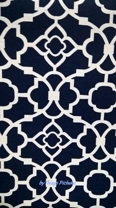 Desenho colonial azul marinho