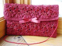 Mis Pasatiempos Amo el Crochet: Cartera de encaje