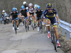 TIRRENO-ADRIATICO STAGE FOUR GALLERY  Alberto Contador went on the attack but each time he was clawed back by Team Sky's Colombian pairing