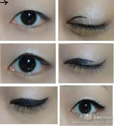 Winged eyeliner #makeup #pictorial