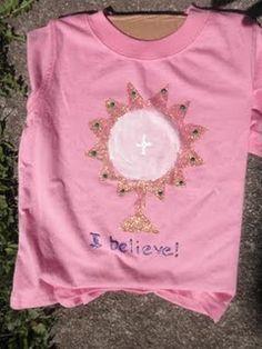 Paint a monstrance t-shirt. Cute!