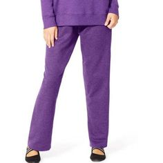 Just My Size Women's Plus-Size Fleece Petite Sweatpant, Purple