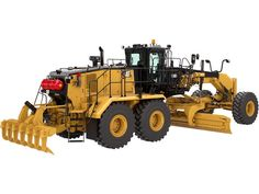 The new Cat Motor Grader delivers increased productivity with more power and more coverage per pass. Mining Equipment, Heavy Equipment, Caterpillar Equipment, Cat Machines, Offroad, Motor Grader, Old Tractors, Heavy Machinery, Military Equipment