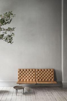 At Studio Oliver Gustav in Copenhagen, furniture for sale includes this $50,000 love seat designed by Poul Kjaerholm.