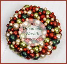 "Nothing says ""Merry Christmas"" like a pretty Christmas Ornament Wreath, and I'm excited to have Patty Schaffer share her DIY Ornament Wreath with us today. If you've always wanted to make an Orname…"