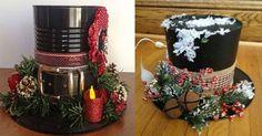 Sombrero+navideño+con+material+reciclado